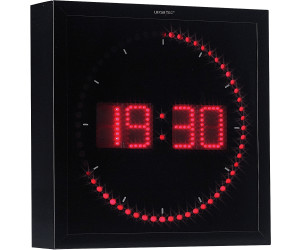 Lunartec horloge digitale murale 60 led au meilleur prix sur for Pendule digitale murale