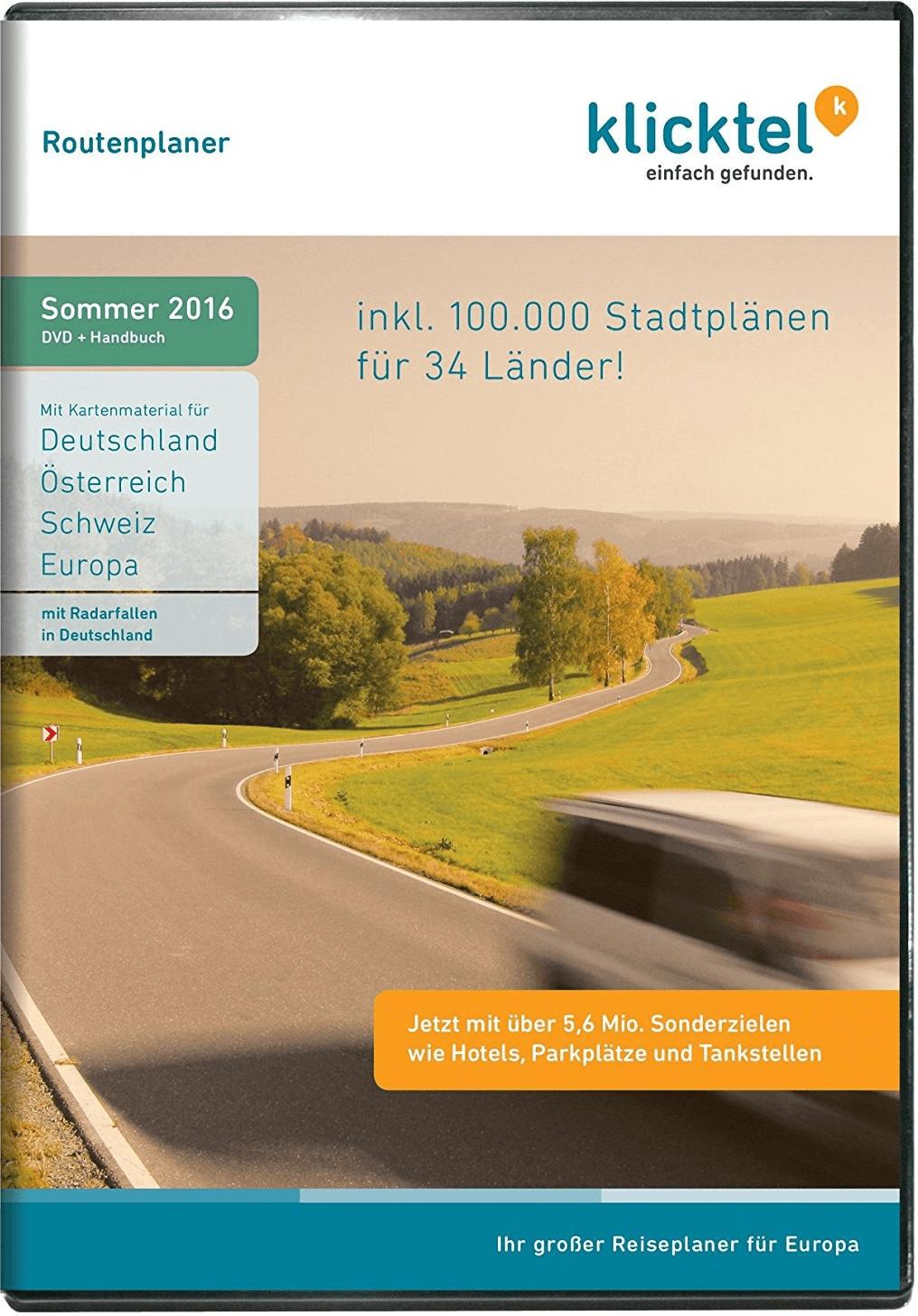 KlickTel Routenplaner Sommer 2016