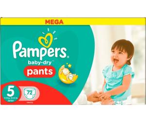 Pampers baby dry pants t5 12 18 kg au meilleur prix sur - Comparateur de prix couches pampers ...