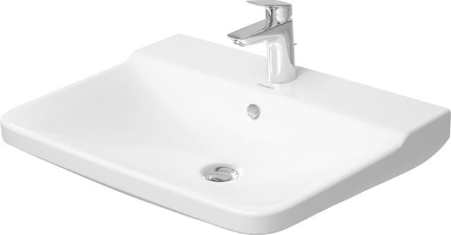 Duravit Möbelwaschtisch P3 Comforts 65 x 50 cm (mit Hahnloch, mit Überlauf)