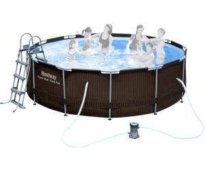 bestway steel pro frame pool 366 x 100 cm ab 170 57 preisvergleich bei. Black Bedroom Furniture Sets. Home Design Ideas