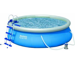 Bestway fast set pool 366 x 91 cm mit kartuschenfilter for Pool 3m durchmesser aufblasbar