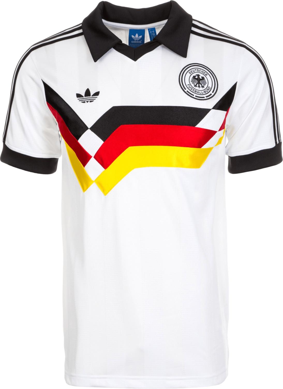 Adidas Deutschland Poloshirt Retro weiß