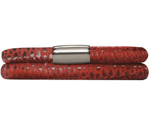 Endless Jennifer Lopez Leather Band Double red reptile 36 cm (1002-36)