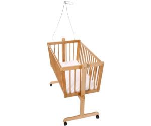 easy baby wiege 180 inkl matratze und himmelhalter ab 129 90 preisvergleich bei. Black Bedroom Furniture Sets. Home Design Ideas