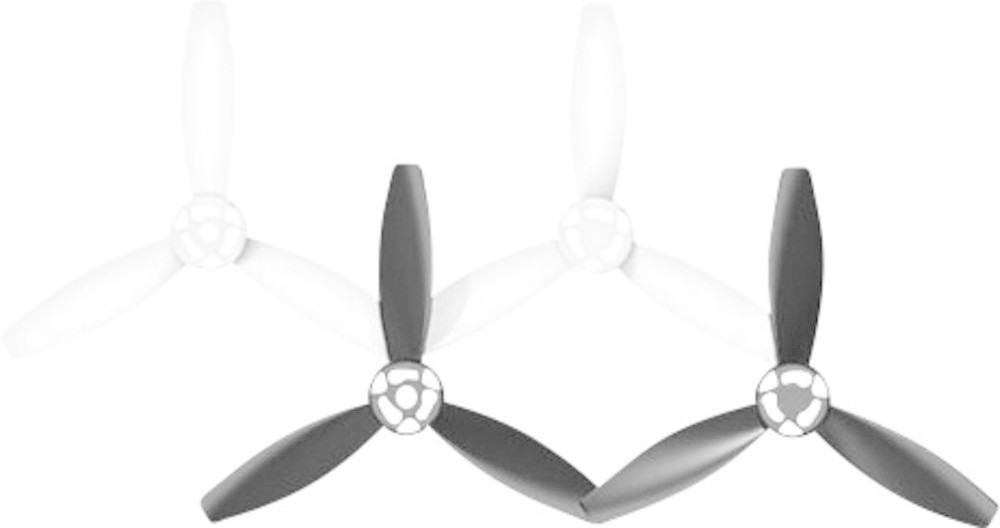 Image of Parrot Bebop 2 Propeller Set Black/White