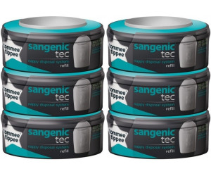 Tommee Tippee Pack De 6 Recharges Pour Poubelle A Couches Sangenic