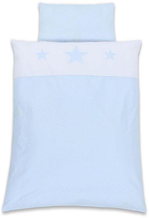 Babybay Kinderbettwäsche Sterne hellblau