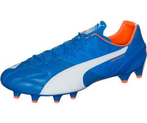Puma Chaussures de football Football evoSPEED 1.4 Lth FG 15/16 electric blue lemonade-white-orange clown fish 10 (UK) d1q2pzW