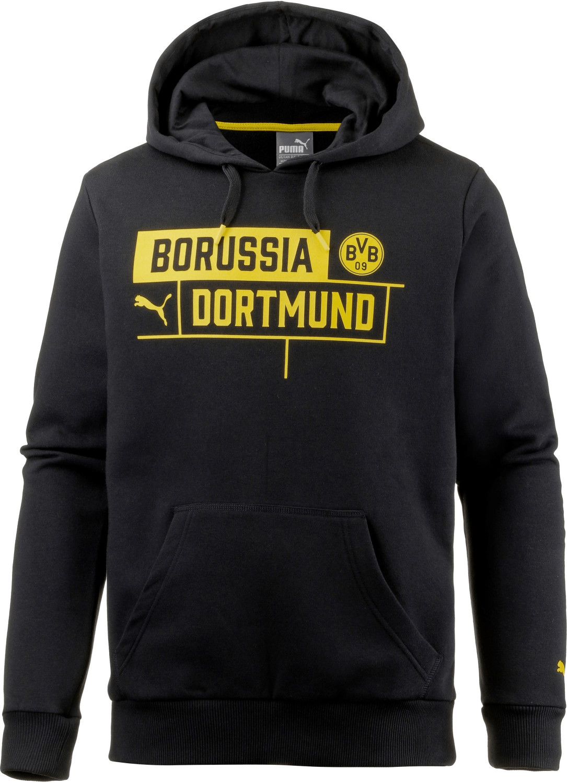 M BVB-Kapuzensweatshirt mit Logo Borussia Dortmund Schwarz
