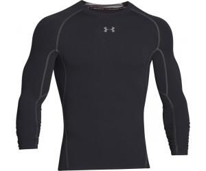 Black Under Armour HeatGear Compression Mens Long Sleeve Top