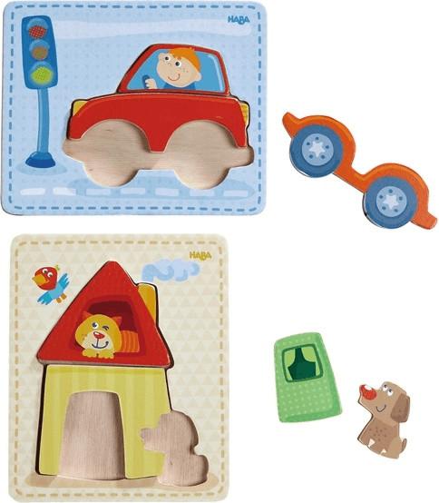 Haba Holzpuzzle Haus & Auto