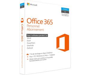 Microsoft office 365 personnel fr au meilleur prix sur - Cle activation office 365 famille premium ...