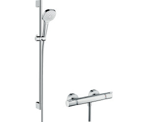 hansgrohe croma select e vario combi brauseset wei chrom 27082400 ab 158 12. Black Bedroom Furniture Sets. Home Design Ideas