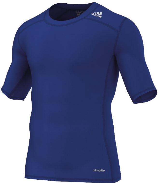 adidas Techfit Base - Camiseta de manga corta para hombre, Azul (Navy Blue), S