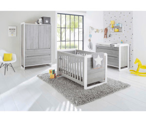 pinolino kinderzimmer curve 3 tlg wickelkommode breit kleiderschrank 2 trg ab. Black Bedroom Furniture Sets. Home Design Ideas