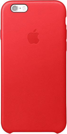 Image of Apple Cover in pelle rosso (iPhone 6S)