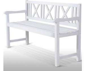 Gartenbank weiß 3 sitzer  Miadomodo Friesenbank Tannenholz weiß 3-Sitzer ab 101,87 ...