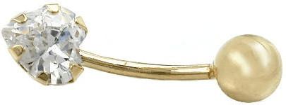 Gallay Piercing Banana Zirkonia-Herz (430298)