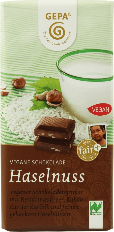 Gepa Vegane Schokolade Haselnuss (100g)