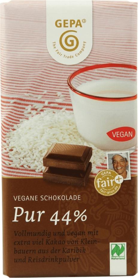Gepa Vegane Schokolade Pur 44% (100g)