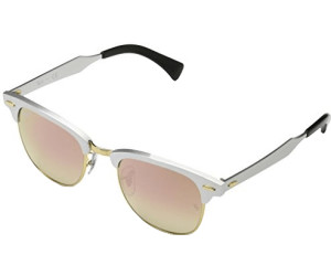Ray Ban Ray-Ban Sonnenbrille »clubmaster Aluminum Rb3507«, Weiß, 137/7o - Weiß/rosa
