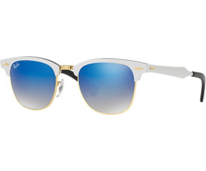 Ray Ban Clubmaster Aluminium RB3507 137/7Q 51 brushed silver / blue flash gr Rxw7pMkT0X