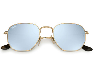 RAY BAN RAY-BAN Sonnenbrille »Hexagonal RB3548N«, goldfarben, 001/30 - gold/silber
