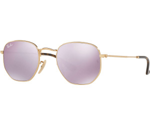845609ad89 Buy Ray-Ban Hexagonal Flat Lenses RB3548N 001 8O (gold lilac mirror ...
