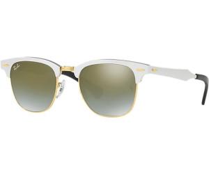 Ray Ban Ray-Ban Sonnenbrille »clubmaster Aluminum Rb3507«, Weiß, 137/9j - Weiß/grün