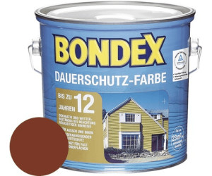 bondex dauerschutz farbe schwedenrot 2 50 l ab 35 84 preisvergleich bei. Black Bedroom Furniture Sets. Home Design Ideas