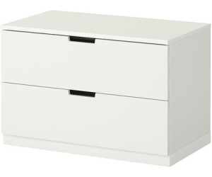 ikea nordli kommode 2 schubladen 80x52cm ab 79 00. Black Bedroom Furniture Sets. Home Design Ideas