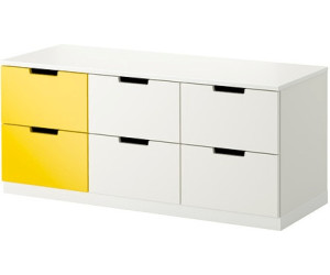 ikea nordli kommode 6 schubladen 43x52x120cm ab 159 00 preisvergleich bei. Black Bedroom Furniture Sets. Home Design Ideas