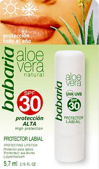 Babaria Aloe Vera protector labial SPF 30 (5,7 ml)