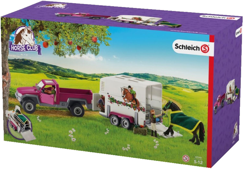Schleich Pick-up mit Pferdeanhänger (42346)