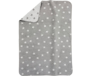 Alvi Baumwolldecke UV 50+ Sterne Grau