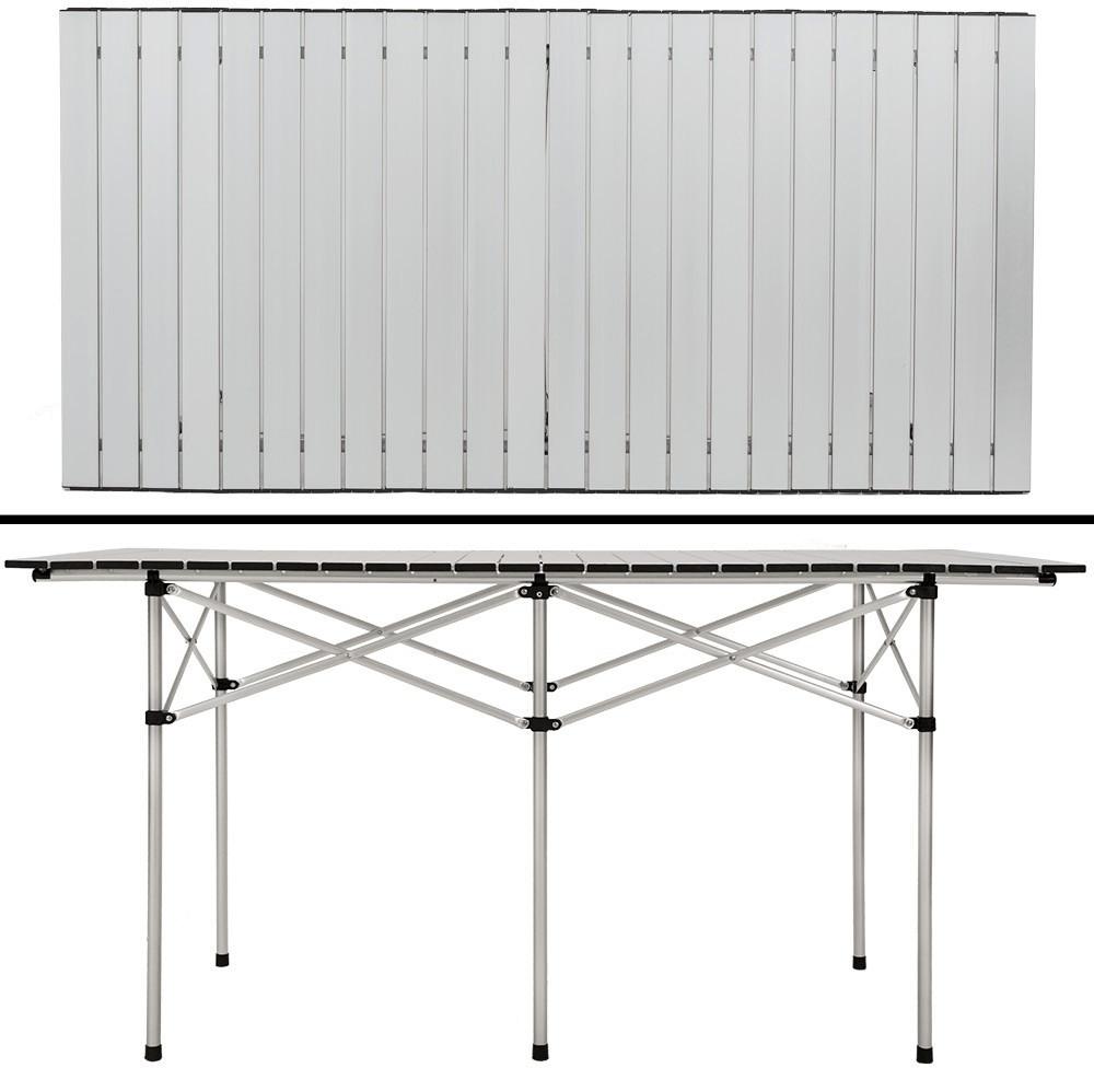 TecTake Aluminium Klapptisch XXL (140 x 70 x 70 cm)