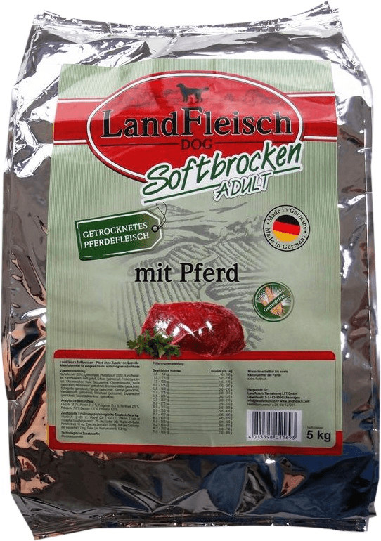 Landfleisch Softbrocken Adult mit Pferd