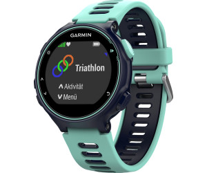 garmin forerunner 735xt hrm run bleu vert d 39 eau au meilleur prix sur. Black Bedroom Furniture Sets. Home Design Ideas