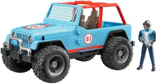 Bruder Jeep Cross Country Racer blau mit Rennfahrer (02541)