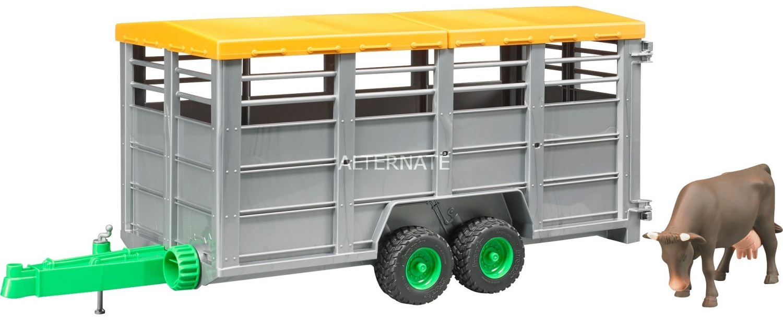 Bruder Viehtransportanhänger mit 1 Kuh (02227)