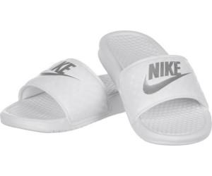 Benassi Silver Nike Jdi Au Women343881Whitemetallic Meilleur jA3Rc4qS5L