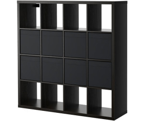 ikea kallax dr na regal 147x147x39cm 8 eins tze schwarzbraun ab 118 92 preisvergleich bei. Black Bedroom Furniture Sets. Home Design Ideas
