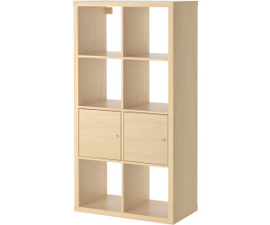 ikea kallax regal mit t ren 77x147x39cm birkenachbildung ab 195 00 preisvergleich bei. Black Bedroom Furniture Sets. Home Design Ideas