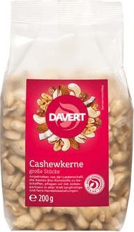 Davert Cashewkerne große Stücke (200g)