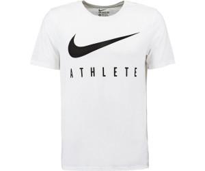 Nike Swoosh Athlete Herren T-Shirt Weiß/Weiß/Schwarz
