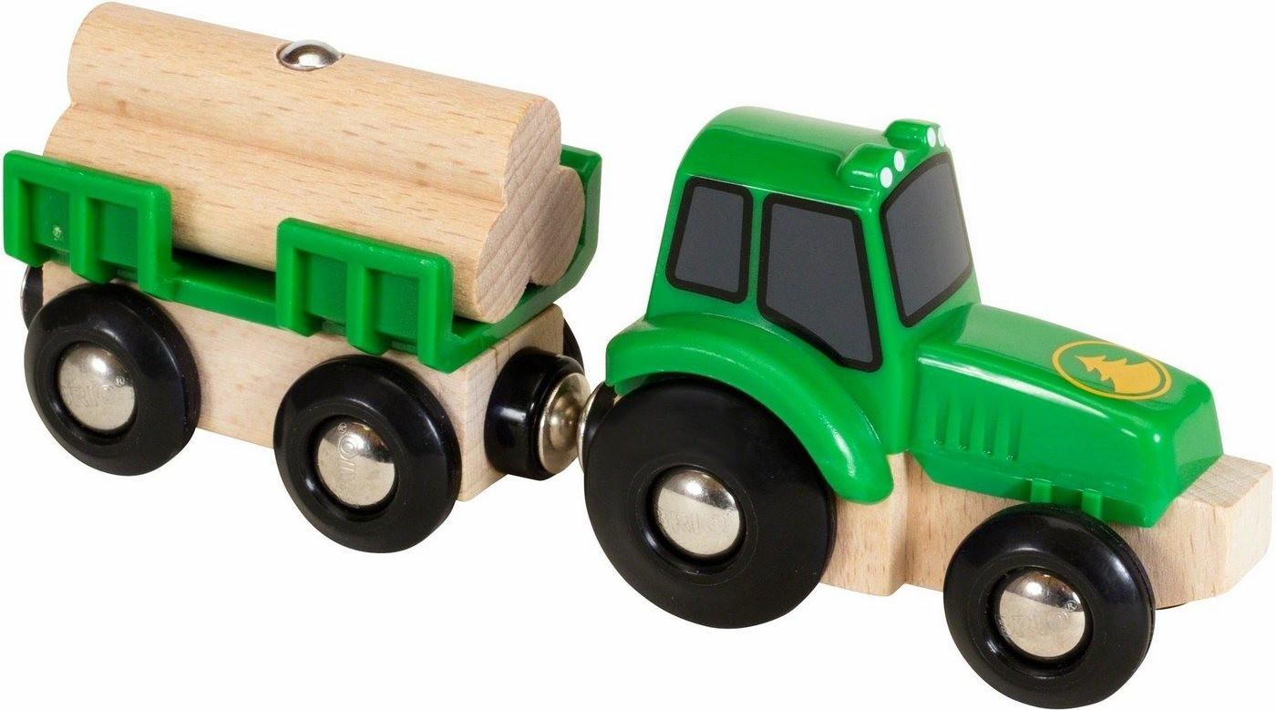 Brio Traktor mit Holz-Anhänger (33799)