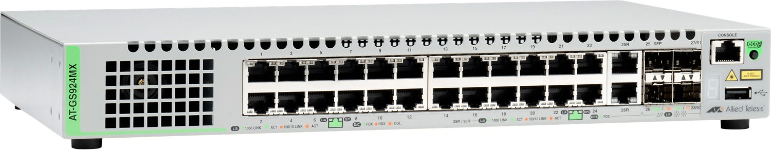 Image of Allied Telesis CentreCOM 24-Port Gigabit Switch (AT-GS924MX)