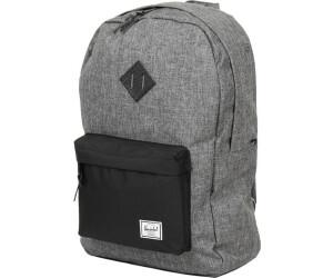 ae24d77d4a Buy Herschel Heritage Backpack raven crosshatch black from £37.02 ...