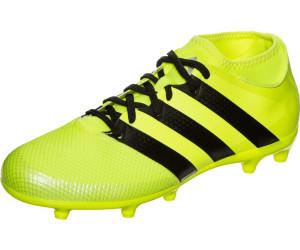 adidas Herren Ace 16.2 FG/AG Fußballschuhe, Grün (Solar Green/Shock Pink/Core Black), 42 2/3 EU